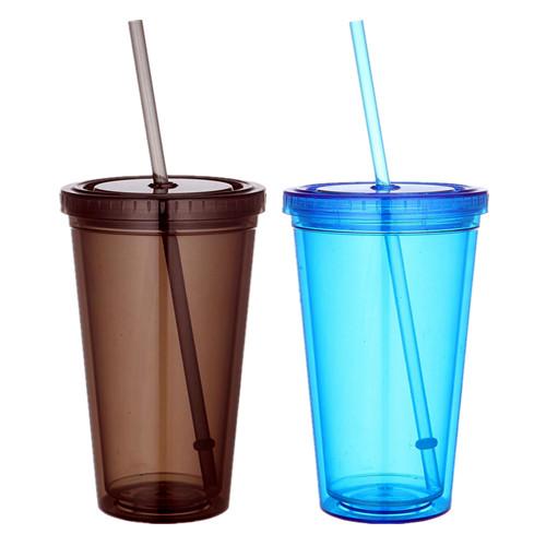 แก้วมัคพลาสติกมีหลอด