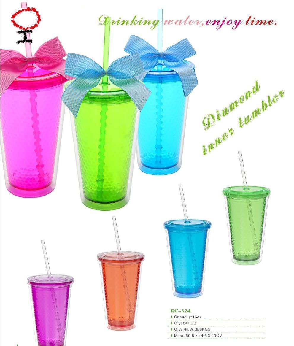 แก้วมัค2ชั้นมีหลอด